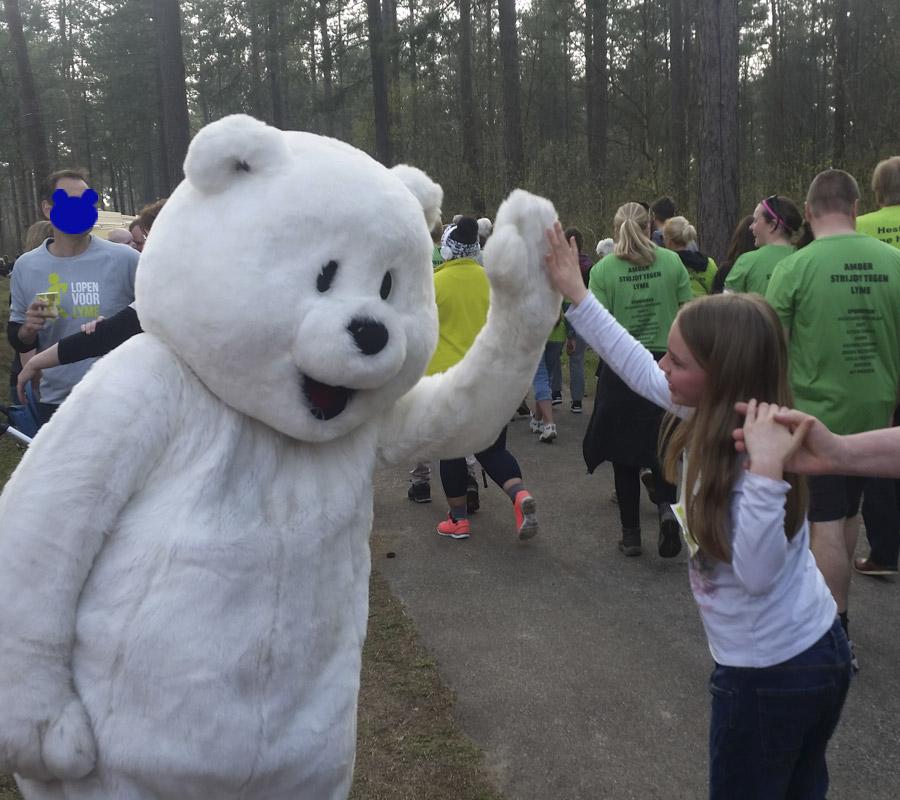 Jasper de ijsbeer mascotte