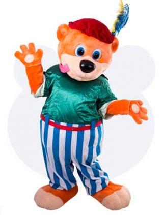 Sinterklaas Binky als piet mascotte - Binky als piet mascotte pak huren