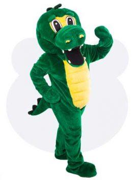 Krokodil mascotte - Kaai de krokodil mascotte pak huren